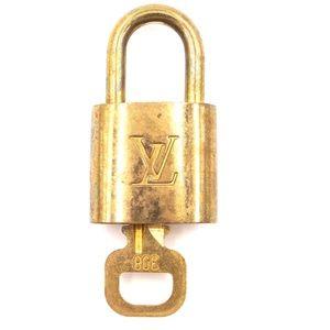 Gold Lock Keepall Brass and Key Set #308 Bag